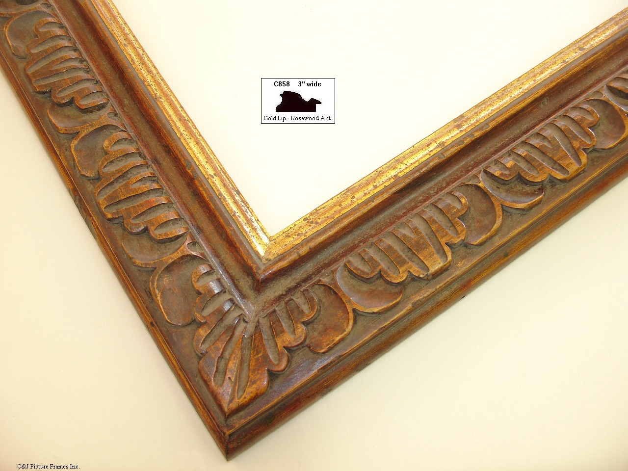 French Style Hand Carved Frames With Wood Finishes