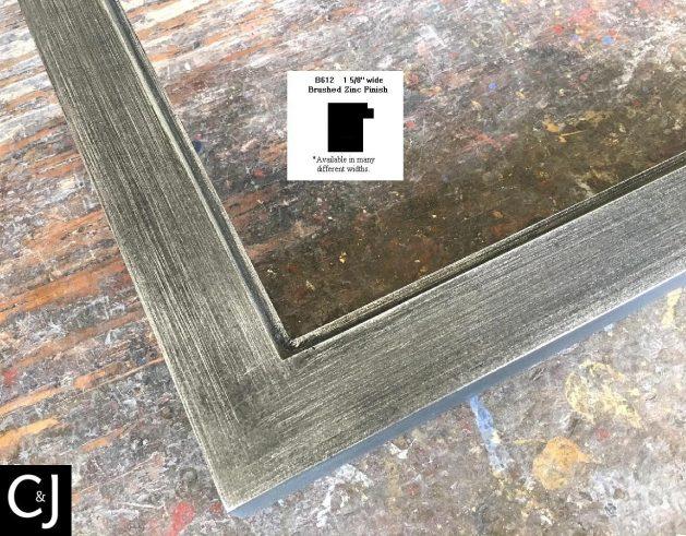 AMCI-Regence: CJFrames - Contemporary Frames - Gold Leaf - Black over Metal - Antique White - Ebony: B612