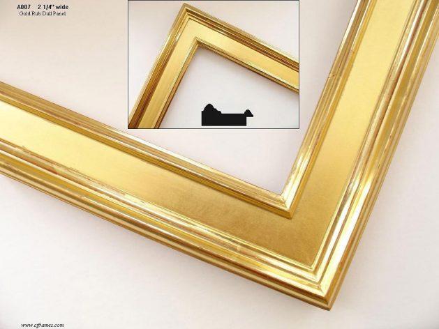 AMCI-Regence: CJFrames - Contemporary Frames - Gold Leaf - Black over Metal - Antique White - Ebony: A007