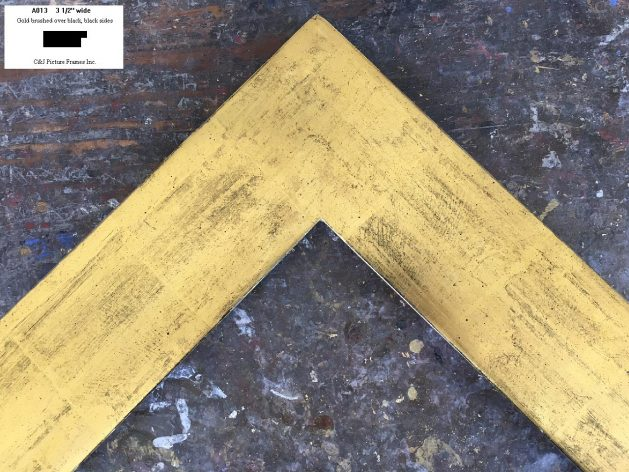 AMCI-Regence: CJFrames - Contemporary Frames - Gold Leaf - Black over Metal - Antique White - Ebony: A013