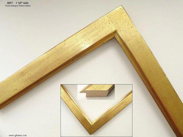 AMCI-Regence: CJFrames - Contemporary Frames - Gold Leaf - Black over Metal - Antique White - Ebony: A027