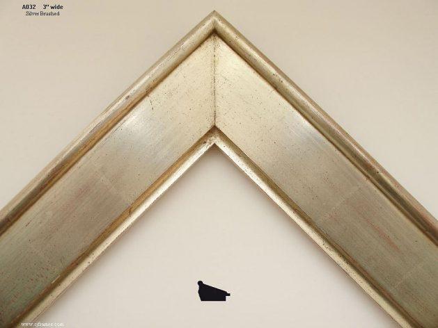 AMCI-Regence: CJFrames - Contemporary Frames - Gold Leaf - Black over Metal - Antique White - Ebony: A032
