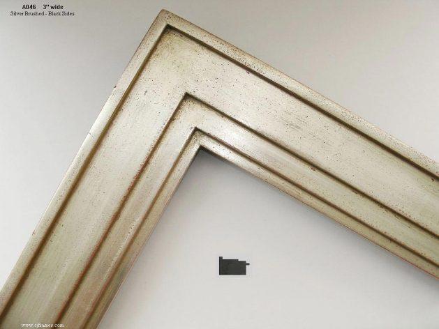 AMCI-Regence: CJFrames - Contemporary Frames - Gold Leaf - Black over Metal - Antique White - Ebony: A046