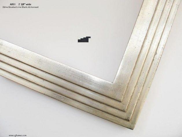 AMCI-Regence: CJFrames - Contemporary Frames - Gold Leaf - Black over Metal - Antique White - Ebony: A051