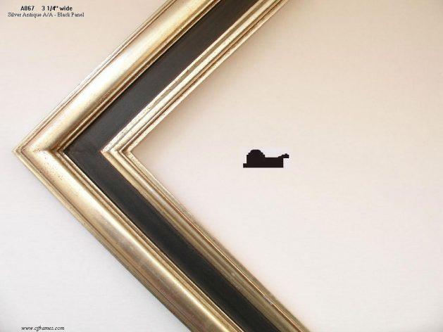 AMCI-Regence: CJFrames - Contemporary Frames - Gold Leaf - Black over Metal - Antique White - Ebony: A067