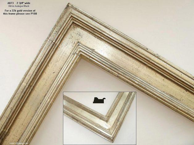 AMCI-Regence: CJFrames - Contemporary Frames - Gold Leaf - Black over Metal - Antique White - Ebony: A073