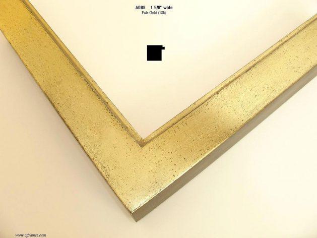 AMCI-Regence: CJFrames - Contemporary Frames - Gold Leaf - Black over Metal - Antique White - Ebony: A088