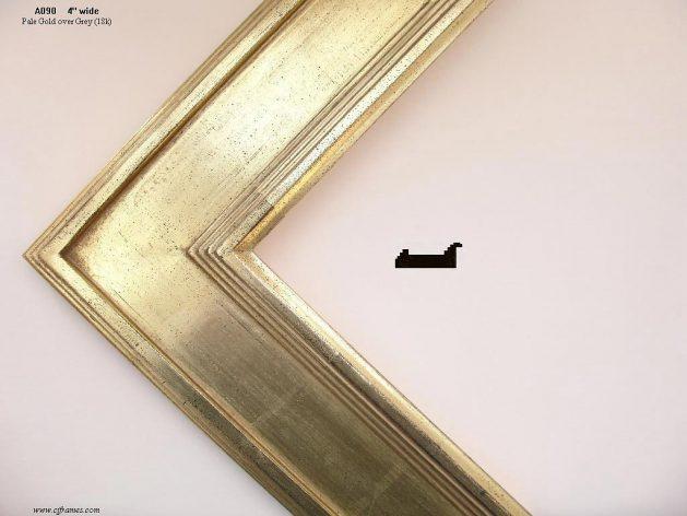 AMCI-Regence: CJFrames - Contemporary Frames - Gold Leaf - Black over Metal - Antique White - Ebony: A090