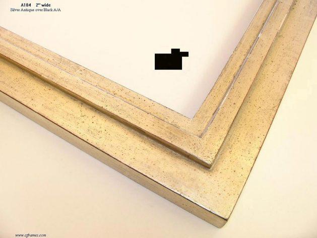 AMCI-Regence: CJFrames - Contemporary Frames - Gold Leaf - Black over Metal - Antique White - Ebony: A104