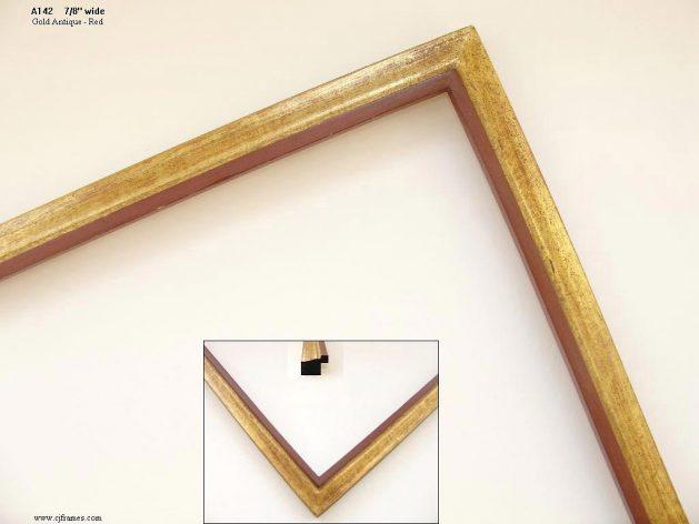 AMCI-Regence: CJFrames - Contemporary Frames - Gold Leaf - Black over Metal - Antique White - Ebony: A142