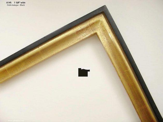 AMCI-Regence: CJFrames - Contemporary Frames - Gold Leaf - Black over Metal - Antique White - Ebony: A145