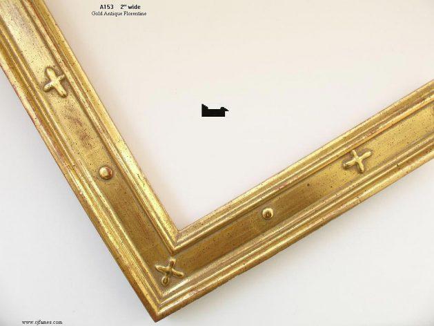 AMCI-Regence: CJFrames - Italian Frames - Gold Leaf - Black over Metal - Antique White - Ebony: A153