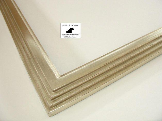 AMCI-Regence: CJFrames - Contemporary Frames - Gold Leaf - Black over Metal - Antique White - Ebony: A388