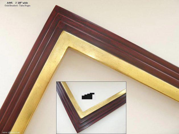 AMCI-Regence: CJFrames - Contemporary Frames - Gold Leaf - Black over Metal - Antique White - Ebony: A445