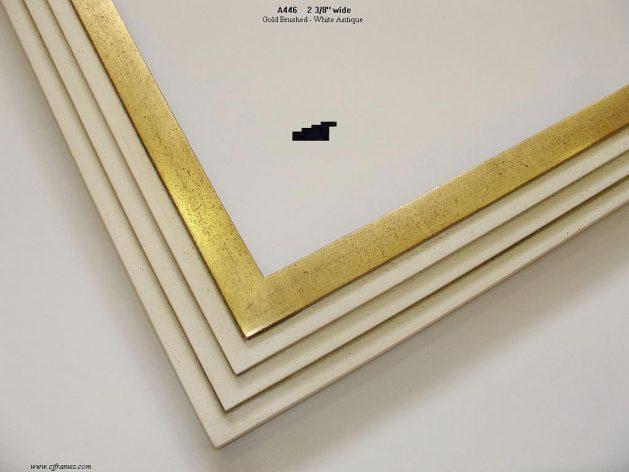 AMCI-Regence: CJFrames - Contemporary Frames - Gold Leaf - Black over Metal - Antique White - Ebony: A446