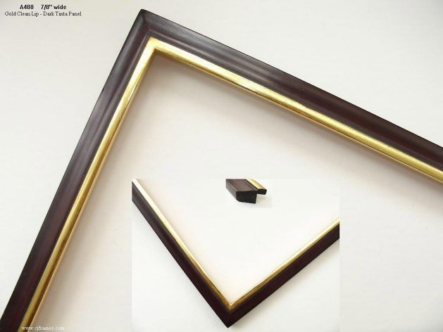 AMCI-Regence: CJFrames - Contemporary Frames - Gold Leaf - Black over Metal - Antique White - Ebony: A488