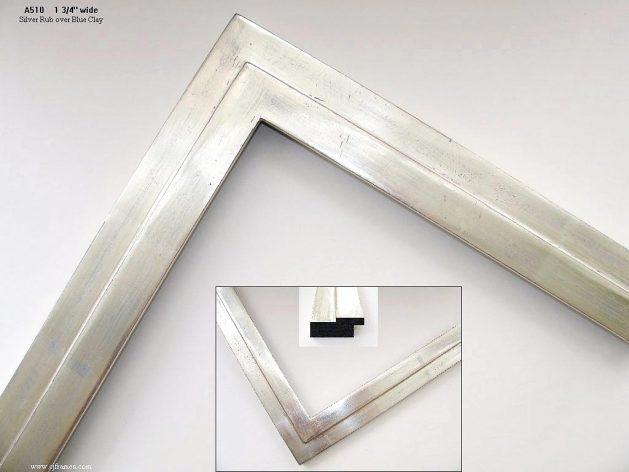 AMCI-Regence: CJFrames - Contemporary Frames - Gold Leaf - Black over Metal - Antique White - Ebony: A510