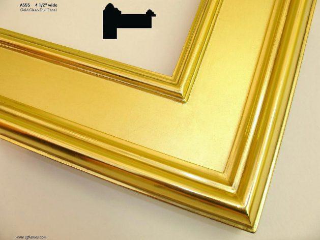 AMCI-Regence: CJFrames - Contemporary Frames - Gold Leaf - Black over Metal - Antique White - Ebony: A555
