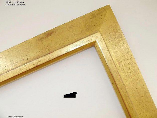 AMCI-Regence: CJFrames - Contemporary Frames - Gold Leaf - Black over Metal - Antique White - Ebony: A566