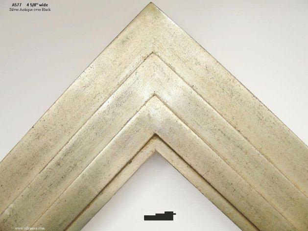 AMCI-Regence: CJFrames - Contemporary Frames - Gold Leaf - Black over Metal - Antique White - Ebony: A577