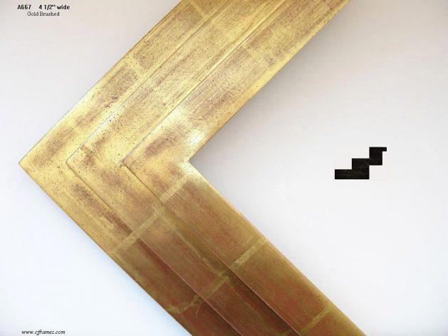 AMCI-Regence: CJFrames - Contemporary Frames - Gold Leaf - Black over Metal - Antique White - Ebony: A667