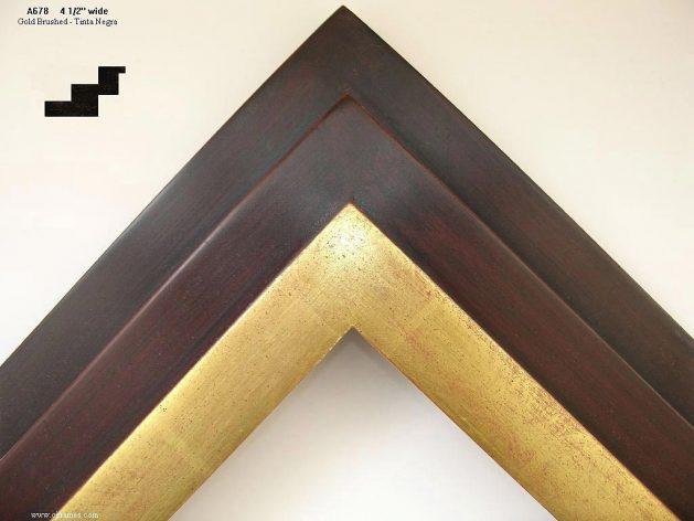 AMCI-Regence: CJFrames - Contemporary Frames - Gold Leaf - Black over Metal - Antique White - Ebony: A678