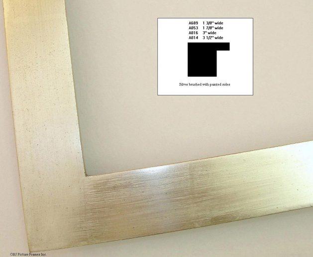 AMCI-Regence: CJFrames - Contemporary Frames - Gold Leaf - Black over Metal - Antique White - Ebony: A689