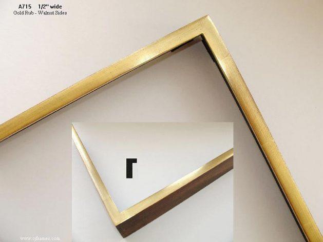 AMCI-Regence: CJFrames - Contemporary Frames - Gold Leaf - Black over Metal - Antique White - Ebony: A715