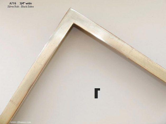 AMCI-Regence: CJFrames - Contemporary Frames - Gold Leaf - Black over Metal - Antique White - Ebony: A716