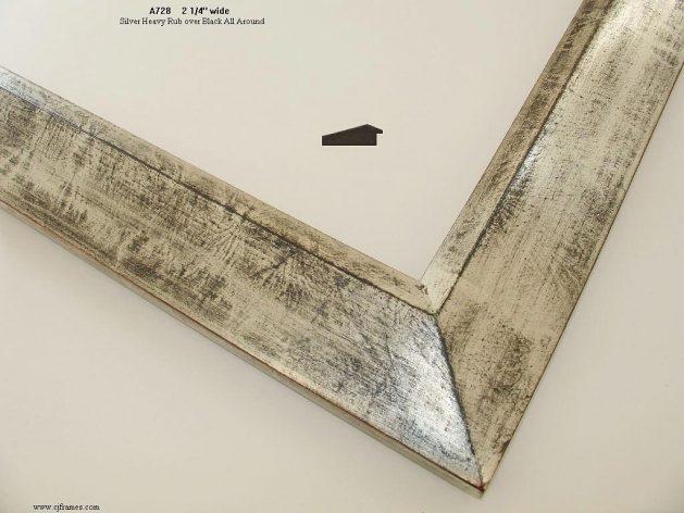 AMCI-Regence: CJFrames - Contemporary Frames - Gold Leaf - Black over Metal - Antique White - Ebony: A728