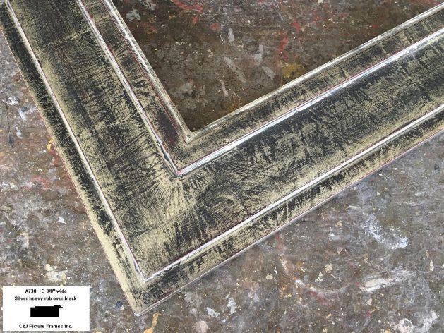 AMCI-Regence: CJFrames - Contemporary Frames - Gold Leaf - Black over Metal - Antique White - Ebony: A730