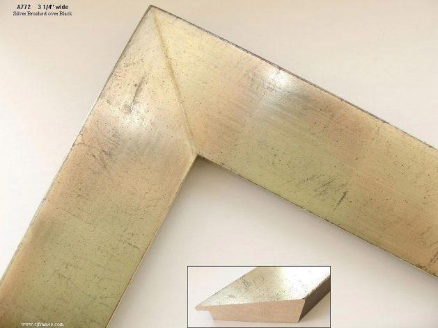 AMCI-Regence: CJFrames - Contemporary Frames - Gold Leaf - Black over Metal - Antique White - Ebony: A772