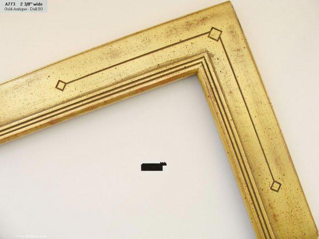 AMCI-Regence: CJFrames - Contemporary Frames - Gold Leaf - Black over Metal - Antique White - Ebony: A773