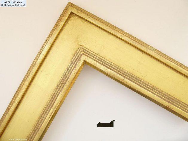 AMCI-Regence: CJFrames - Contemporary Frames - Gold Leaf - Black over Metal - Antique White - Ebony: A777