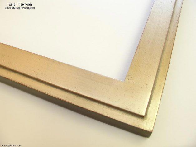 AMCI-Regence: CJFrames - Contemporary Frames - Gold Leaf - Black over Metal - Antique White - Ebony: A819
