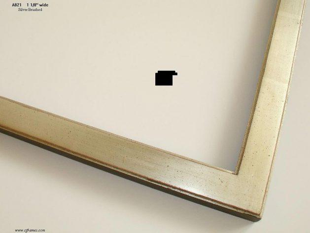 AMCI-Regence: CJFrames - Contemporary Frames - Gold Leaf - Black over Metal - Antique White - Ebony: A821