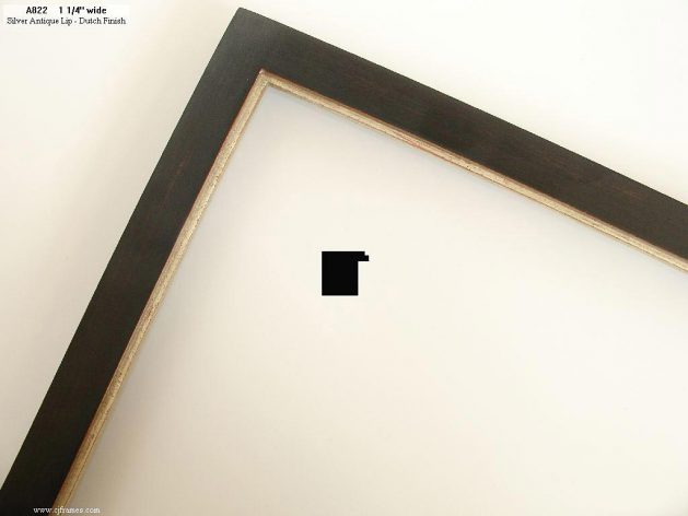 AMCI-Regence: CJFrames - Contemporary Frames - Gold Leaf - Black over Metal - Antique White - Ebony: A822