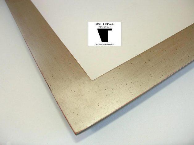 AMCI-Regence: CJFrames - Contemporary Frames - Gold Leaf - Black over Metal - Antique White - Ebony: A836