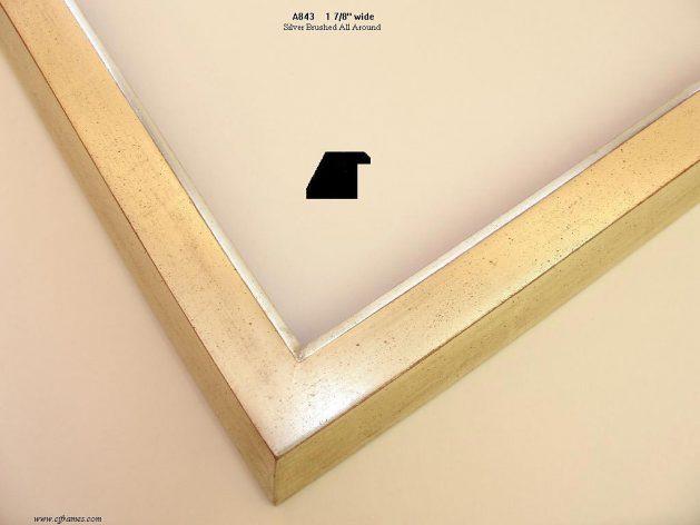 AMCI-Regence: CJFrames - Contemporary Frames - Gold Leaf - Black over Metal - Antique White - Ebony: A843