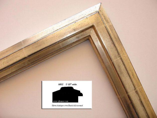 AMCI-Regence: CJFrames - Contemporary Frames - Gold Leaf - Black over Metal - Antique White - Ebony: A852