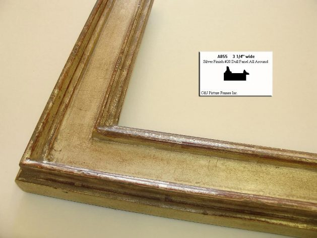 AMCI-Regence: CJFrames - Italian Frames - Gold Leaf - Black over Metal - Antique White - Ebony: A855