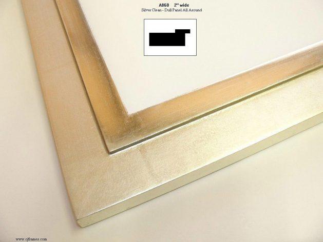 AMCI-Regence: CJFrames - Contemporary Frames - Gold Leaf - Black over Metal - Antique White - Ebony: A860