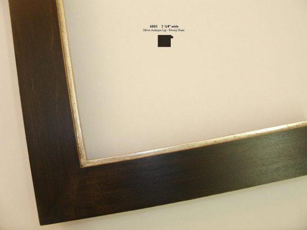 AMCI-Regence: CJFrames - Contemporary Frames - Gold Leaf - Black over Metal - Antique White - Ebony: A865