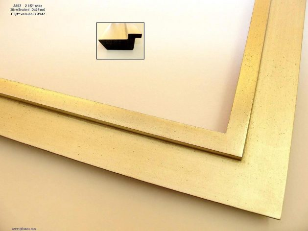 AMCI-Regence: CJFrames - Contemporary Frames - Gold Leaf - Black over Metal - Antique White - Ebony: A867