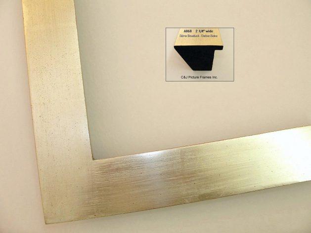 AMCI-Regence: CJFrames - Contemporary Frames - Gold Leaf - Black over Metal - Antique White - Ebony: A868