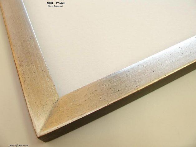 AMCI-Regence: CJFrames - Contemporary Frames - Gold Leaf - Black over Metal - Antique White - Ebony: A870