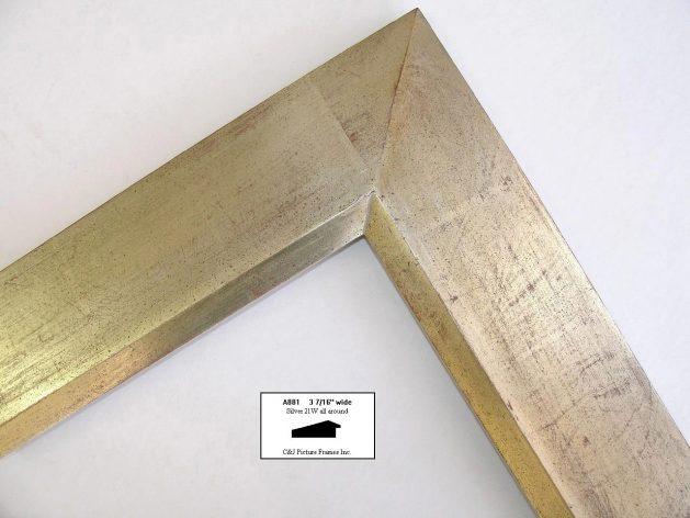 AMCI-Regence: CJFrames - Contemporary Frames - Gold Leaf - Black over Metal - Antique White - Ebony: A881