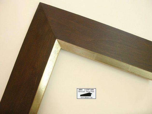AMCI-Regence: CJFrames - Contemporary Frames - Gold Leaf - Black over Metal - Antique White - Ebony: A882
