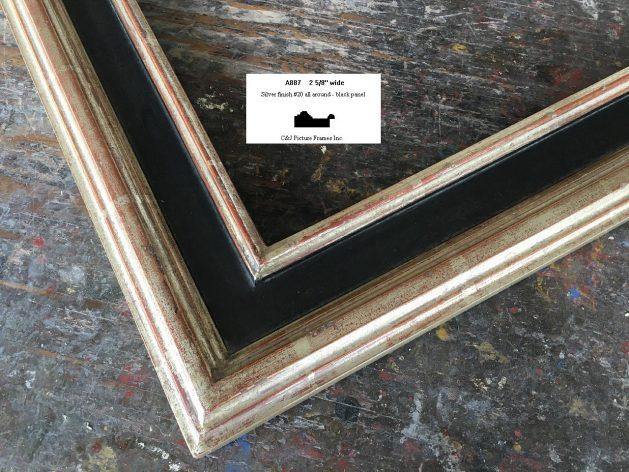 AMCI-Regence: CJFrames - Contemporary Frames - Gold Leaf - Black over Metal - Antique White - Ebony: A887