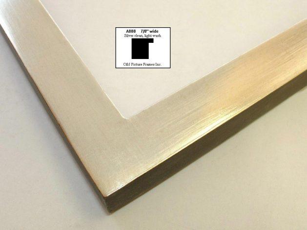 AMCI-Regence: CJFrames - Contemporary Frames - Gold Leaf - Black over Metal - Antique White - Ebony: A888